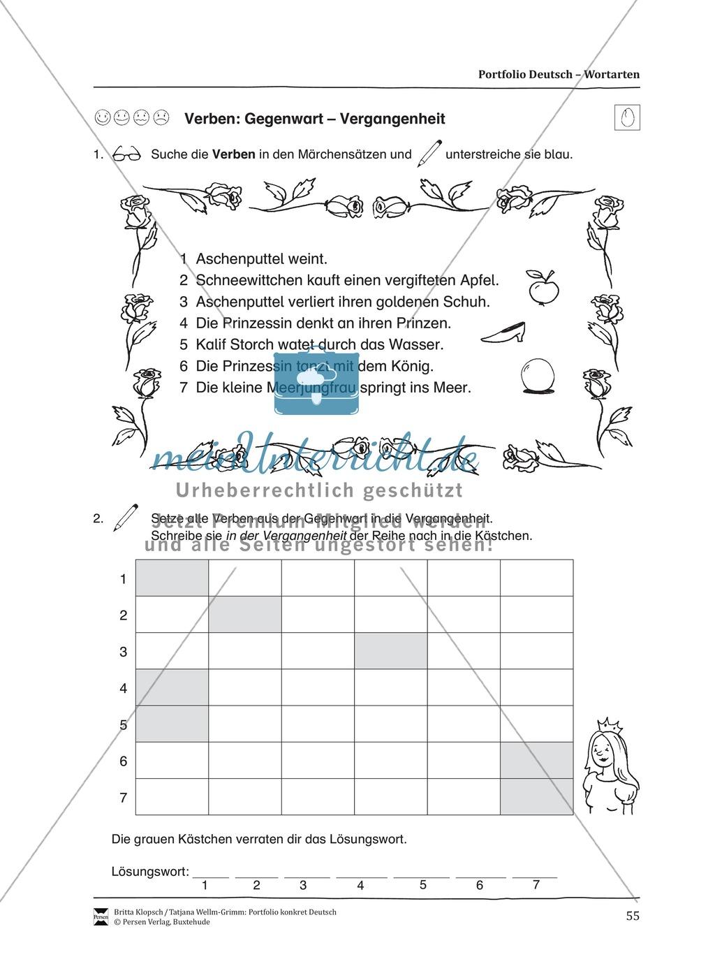 Kopiervorlagen für den Themenbereich Wortarten Preview 12
