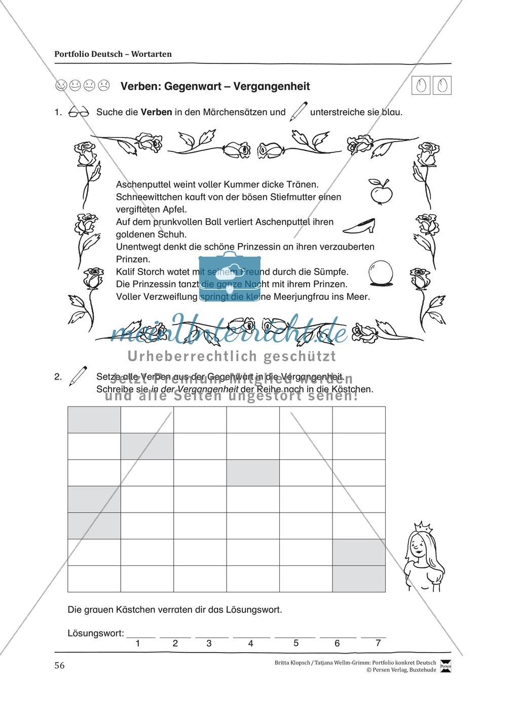 Kopiervorlagen für den Themenbereich Wortarten Preview 13