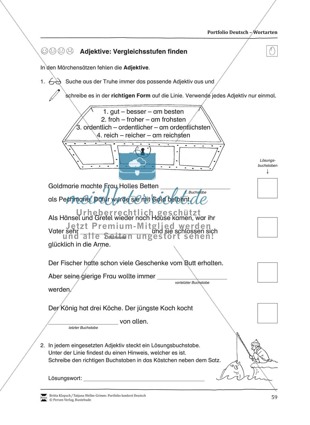 Kopiervorlagen für den Themenbereich Wortarten Preview 16