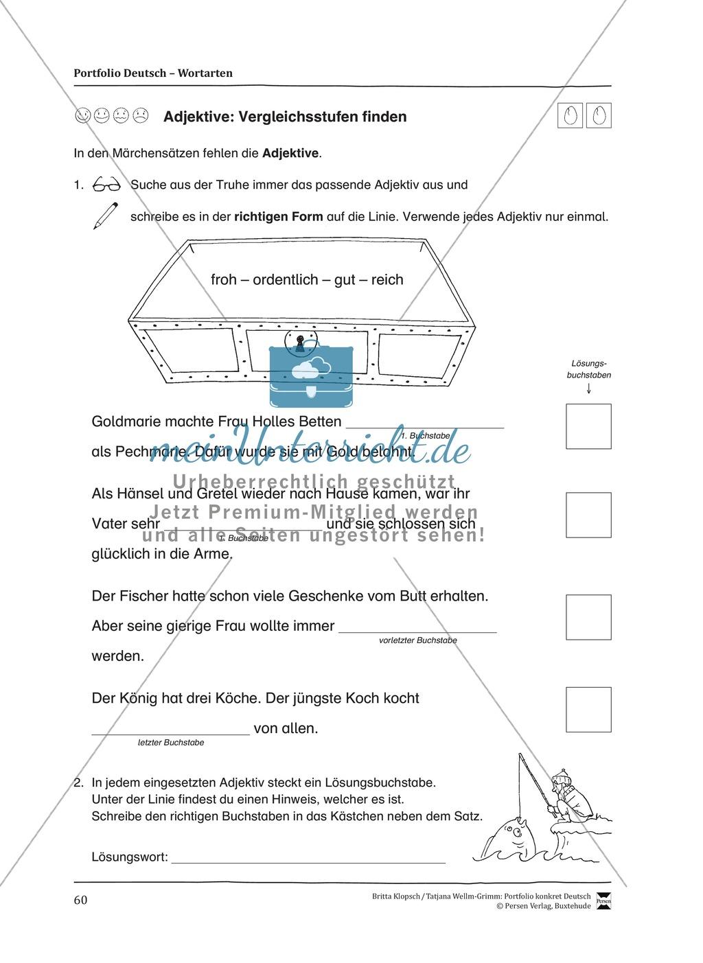 Kopiervorlagen für den Themenbereich Wortarten Preview 17
