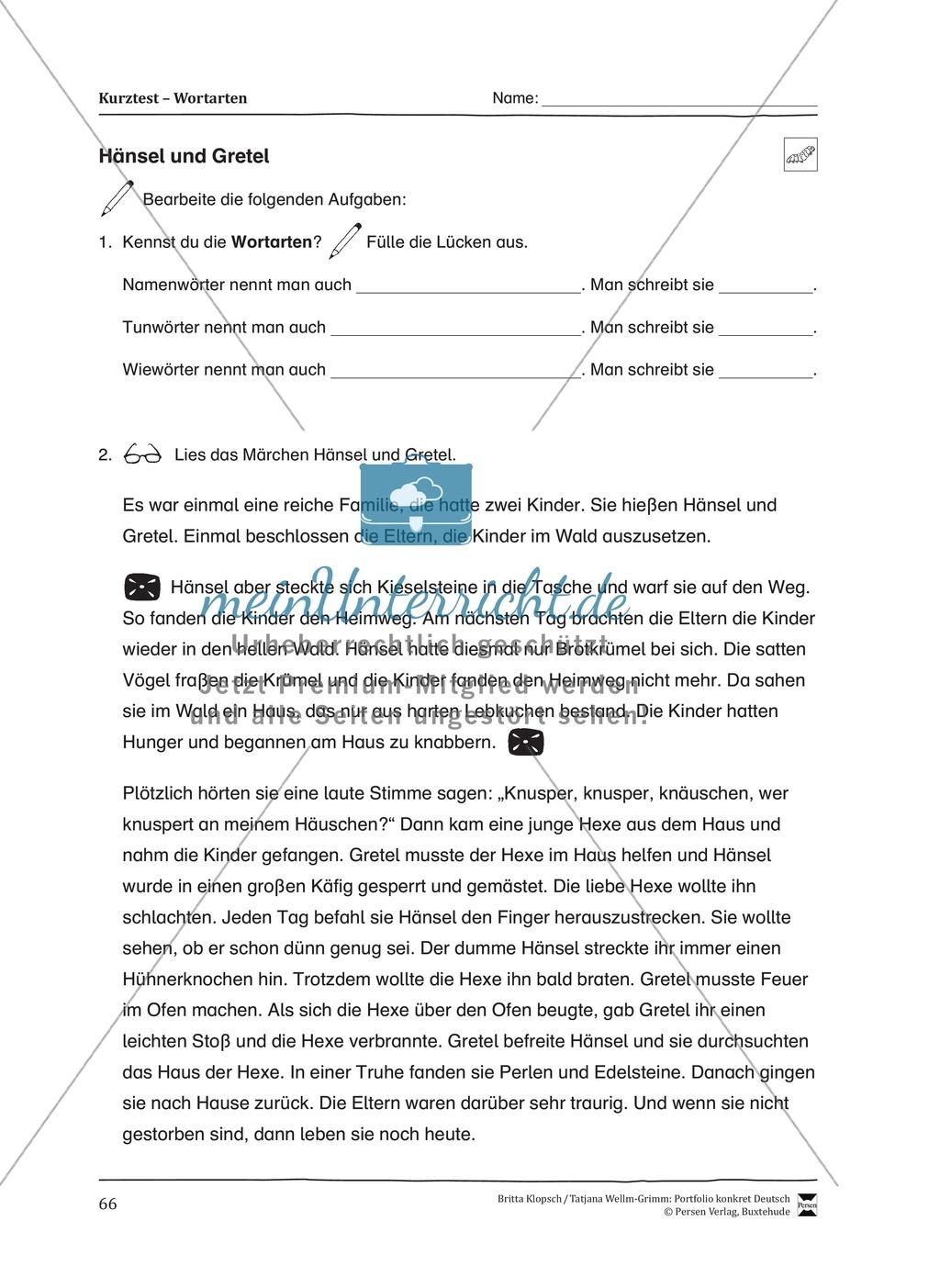 Kopiervorlagen für den Themenbereich Wortarten Preview 23