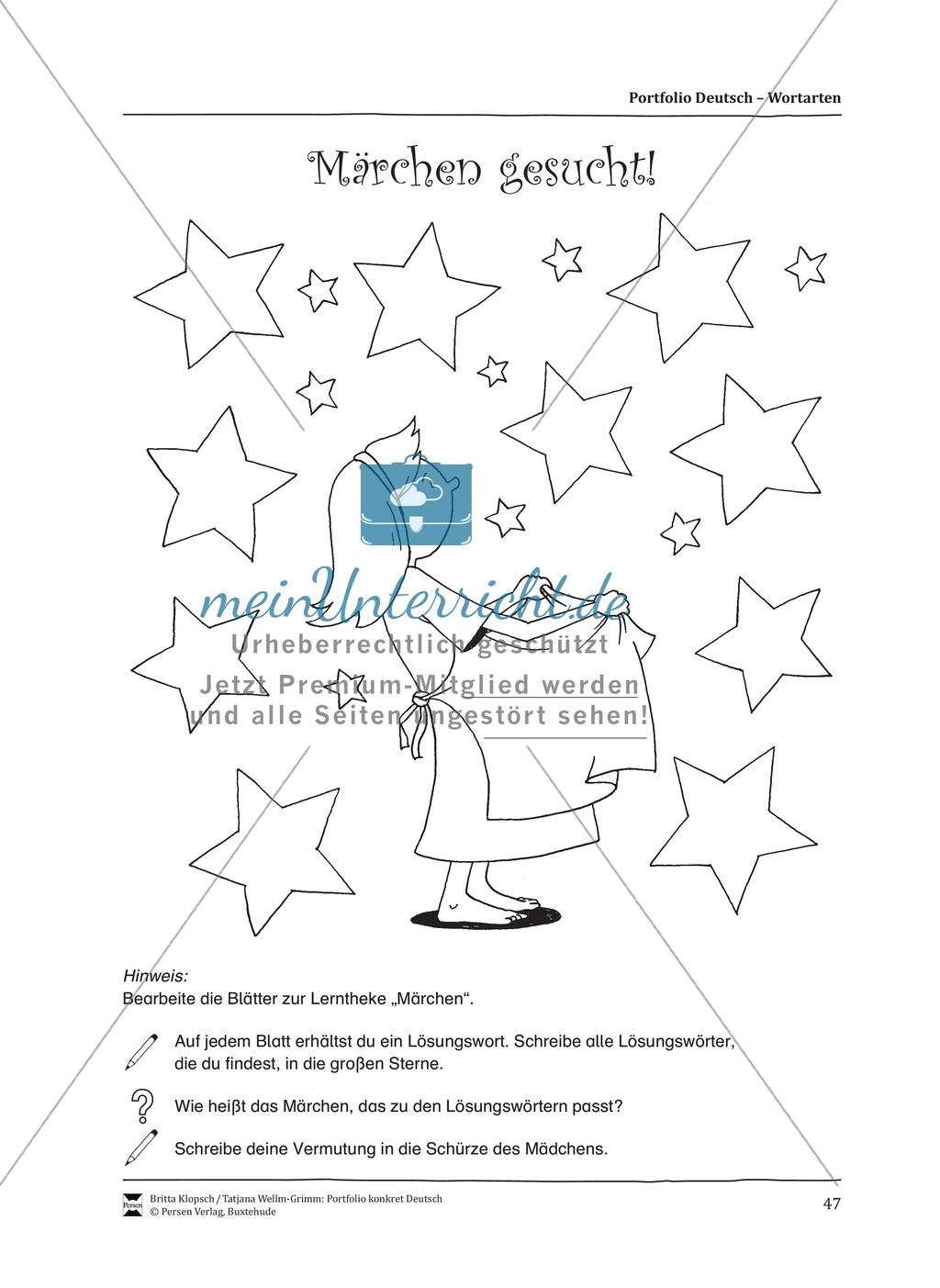Kopiervorlagen für den Themenbereich Wortarten Preview 4