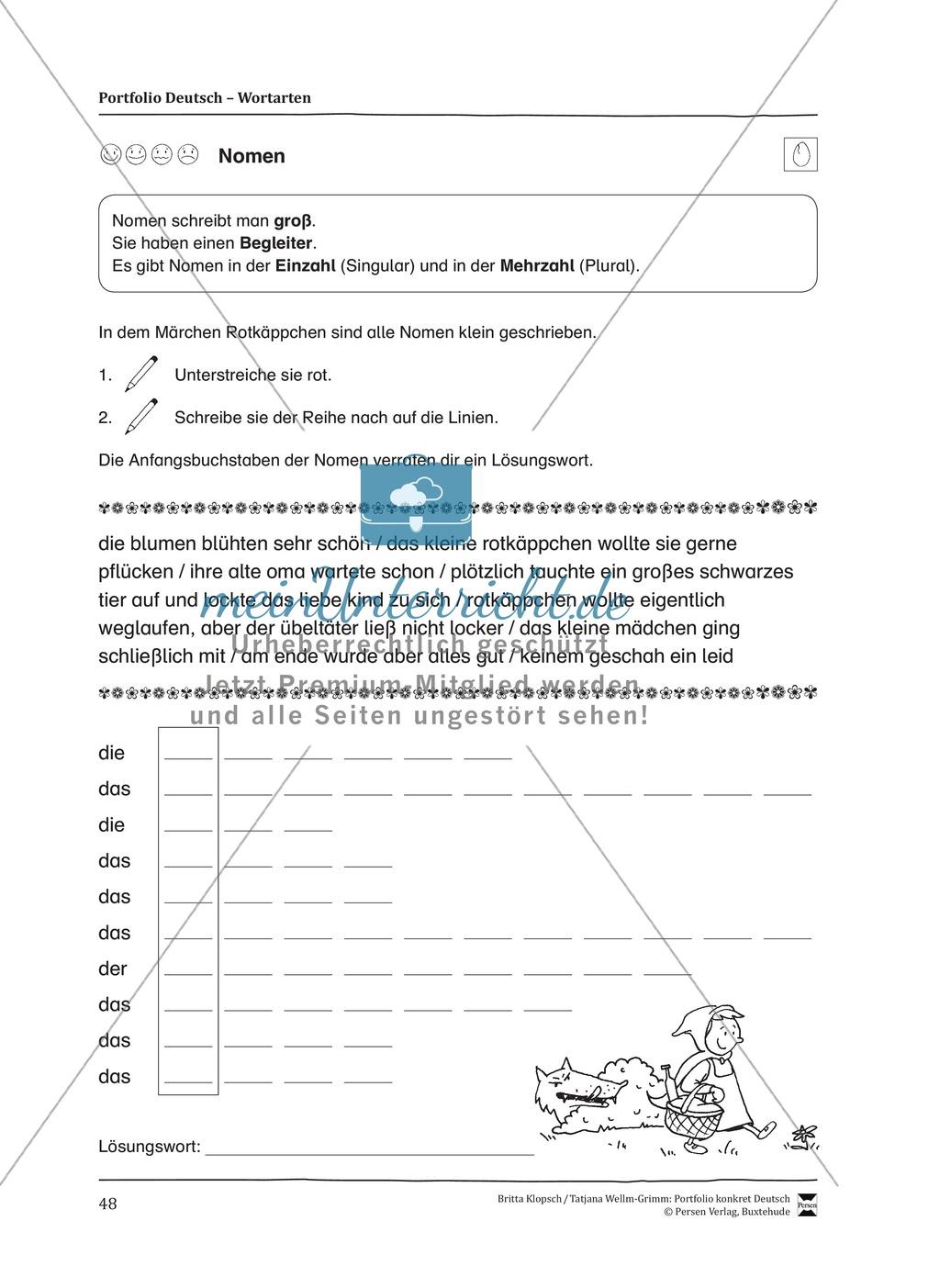 Kopiervorlagen für den Themenbereich Wortarten Preview 5
