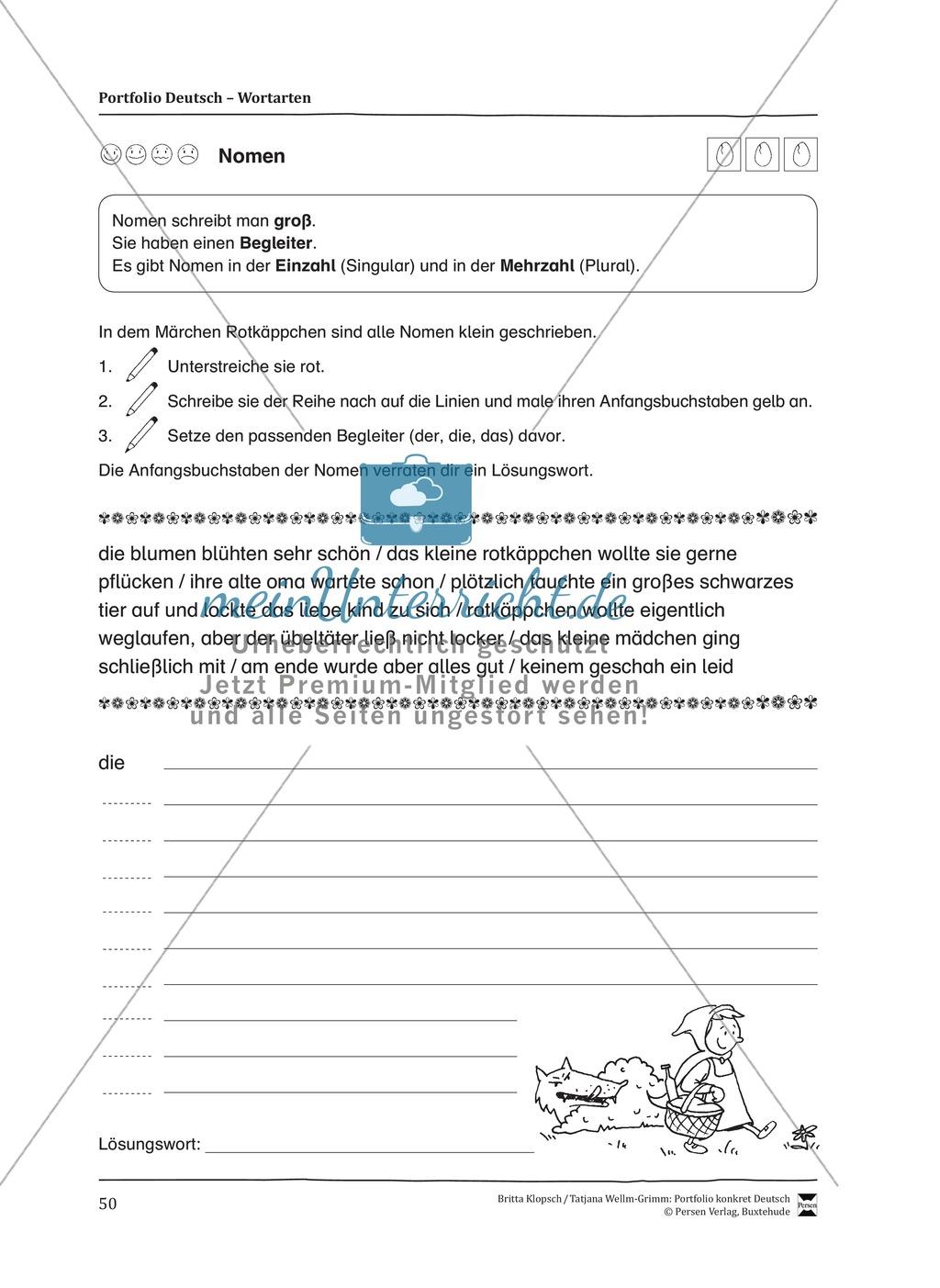 Kopiervorlagen für den Themenbereich Wortarten Preview 7