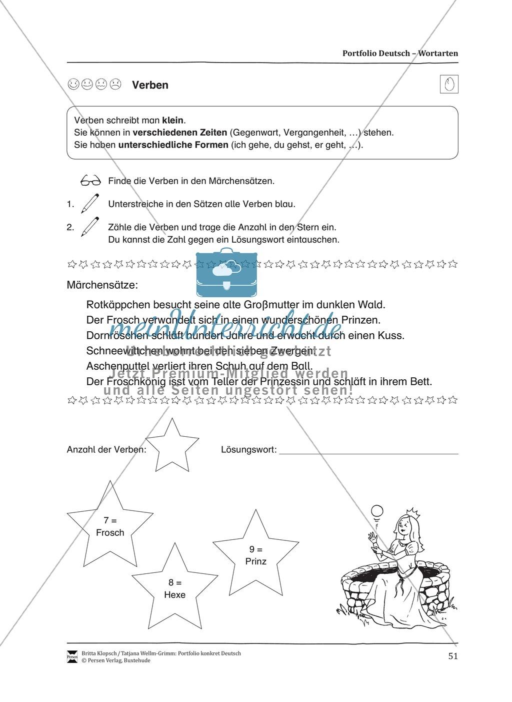 Kopiervorlagen für den Themenbereich Wortarten Preview 8