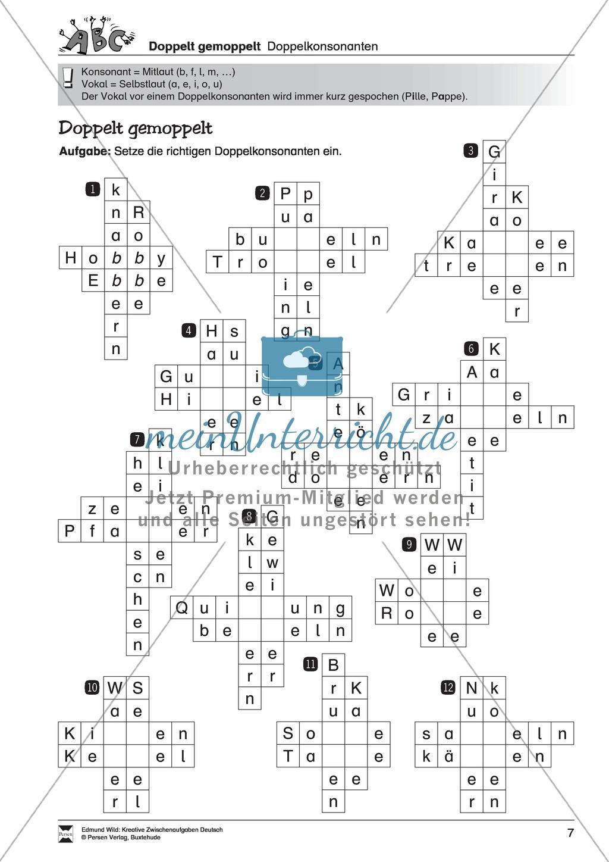 Kreative und spielerische Aufgaben zur Rechtschreibung lösen Preview 1