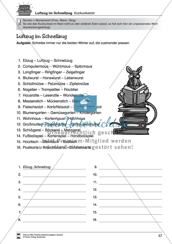 Kreative Aufgaben zum Erweitern des aktiven Wortschatzes Preview 9