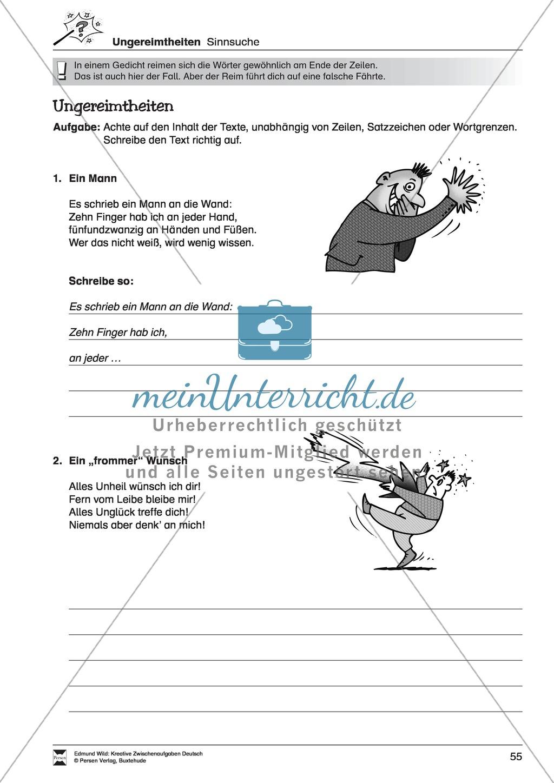 Kreative und spielerische Aufgaben zu Rechtschreibung, Wortschaft, Grammtik und Konzentration Preview 5