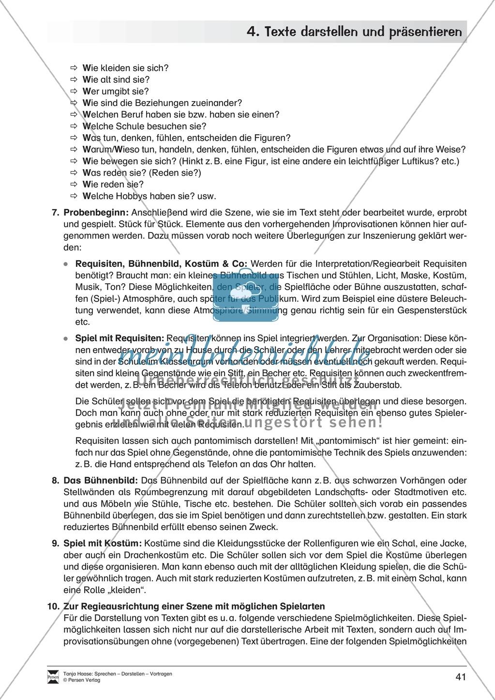 Übungen zum szenischen Darstellen und Präsentieren von Texten Preview 4