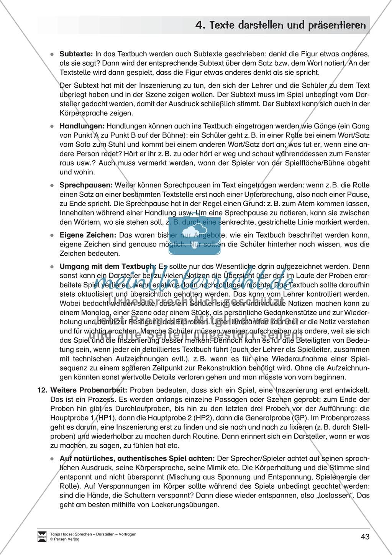 Übungen zum szenischen Darstellen und Präsentieren von Texten Preview 6