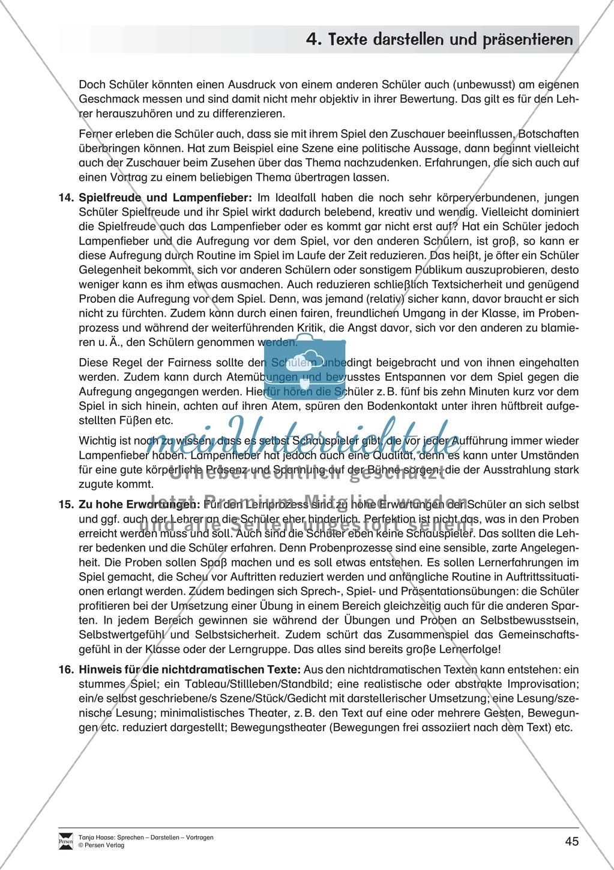 Übungen zum szenischen Darstellen und Präsentieren von Texten Preview 8