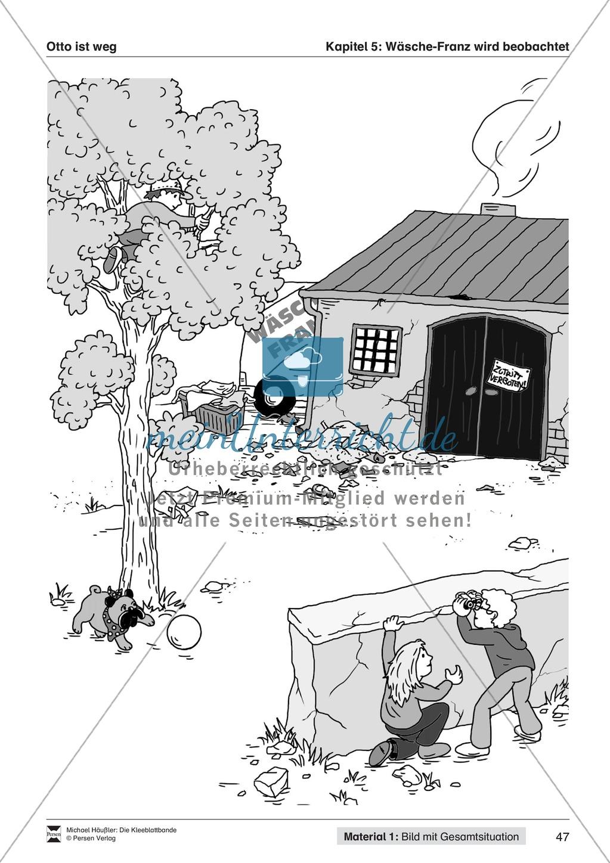 Lesekompetenz aufbauen: Übungen und Lesespiel zum Krimi