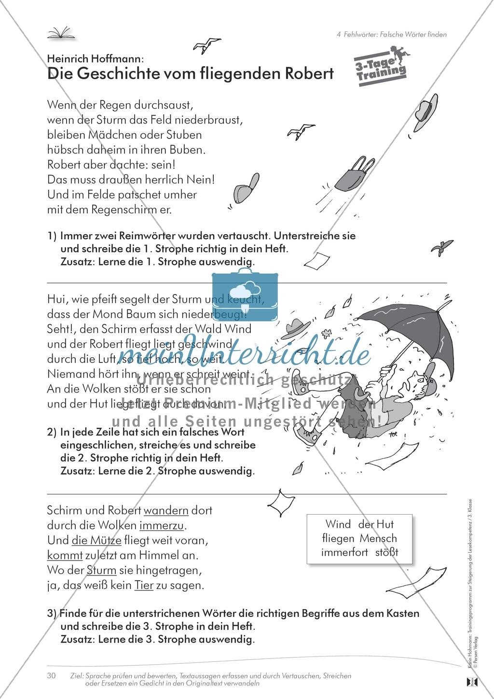 Lesekompetenz aufbauen: Falsche Wörter finden Preview 4