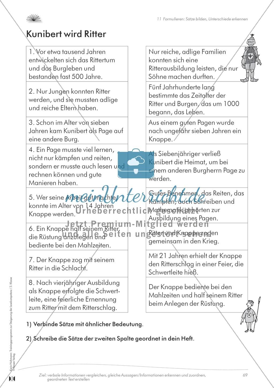 Lesekompetenz aufbauen: Sätze formulieren Preview 1