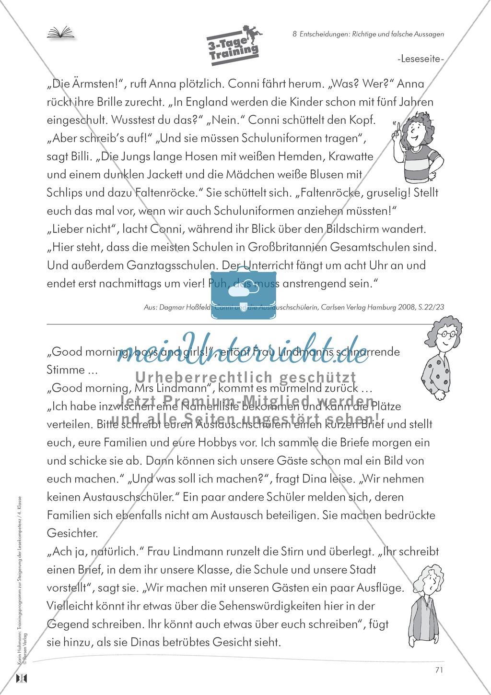 Lesekompetenz aufbauen - richtige Aussagen erkennen: Till Eulenspiegel Preview 14