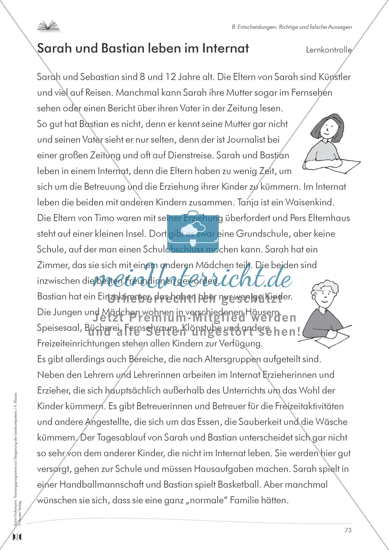 Lesekompetenz aufbauen - richtige Aussagen erkennen: Till Eulenspiegel Preview 16
