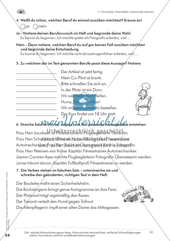 Lese- und Schreibkompetenz aufbauen - Sätze formulieren Preview 6
