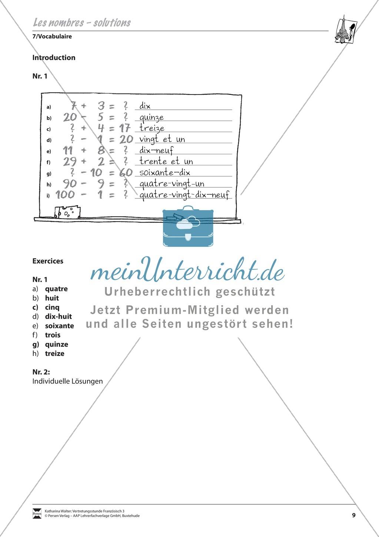 Grammatik für Anfänger: Les nombres- die Zahlen Preview 3