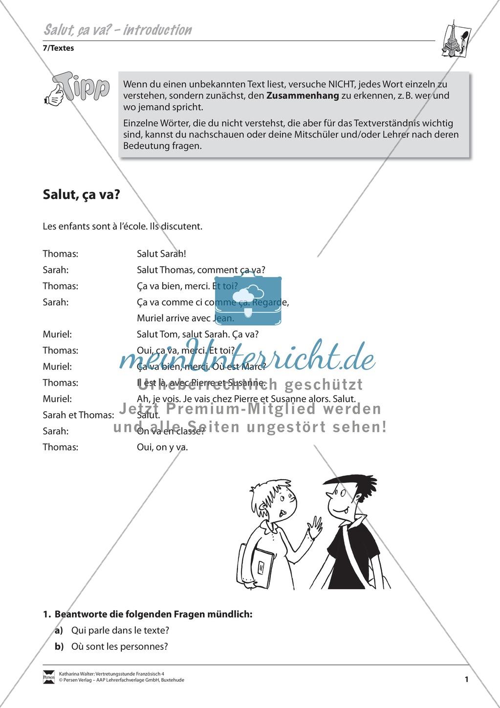 Grammatik für Anfänger: Dialog zur Begrüßung Preview 0