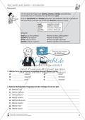 Französisch, Grammatik, Didaktik, Satzlehre, Lernzielkontrollen, Diverses, Fragewörter, Quel-Formen, Didaktik