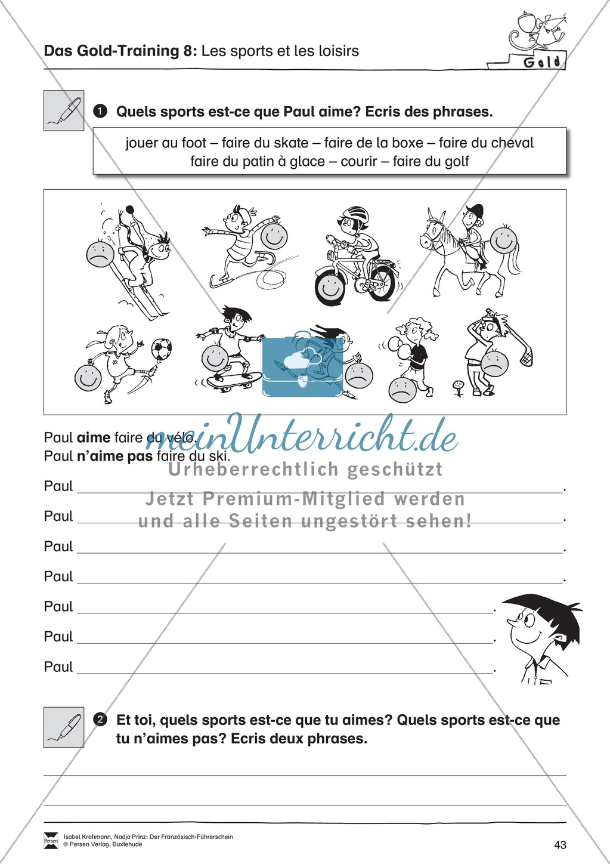 Der Französisch Führerschein: Sport-Freizeit Preview 2