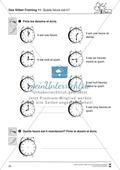 Französisch, Themen, Alltag, Jahr, Uhrzeit, Wortschatz