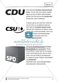 Die fünf größten Parteien Deutschlands: Infotext und Arbeitsblätter Preview 2
