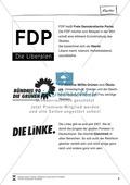 Die fünf größten Parteien Deutschlands: Infotext und Arbeitsblätter Preview 3