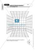 Perspektive: Selbst ein Muster entwerfen und spiegeln. Arbeitsmaterial Preview 2