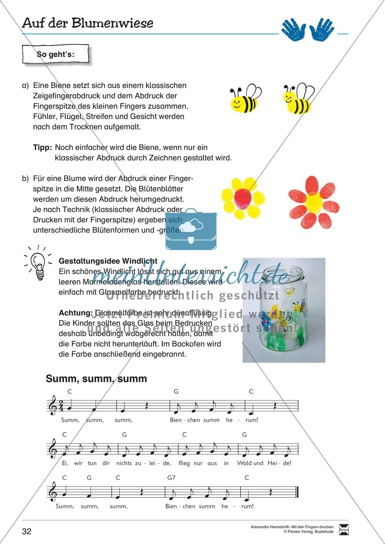 Blumen mit Fingerdruck gestalten + Anleitung für ein Windlicht Preview 1