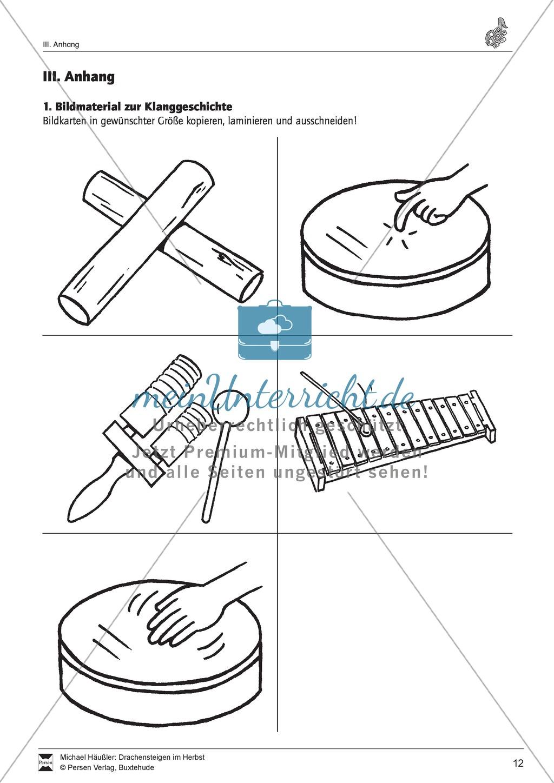 unterrichtsstunde zum thema klanggeschichte mit orff instrumenten drachensteigen im herbst. Black Bedroom Furniture Sets. Home Design Ideas