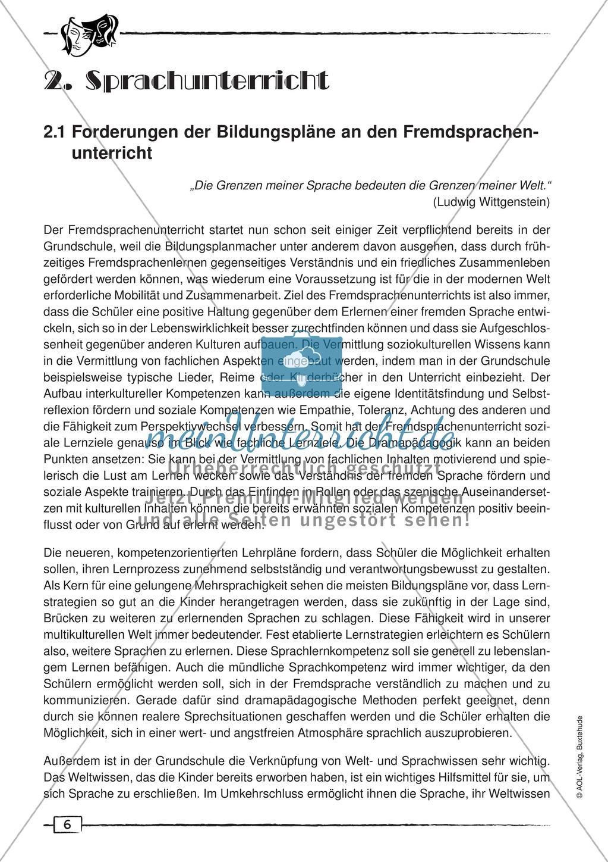 Theorie zur Dramapädagogik im Sprachunterricht: Forderungen der Bildungspläne + Kompetenzerwerb Preview 0