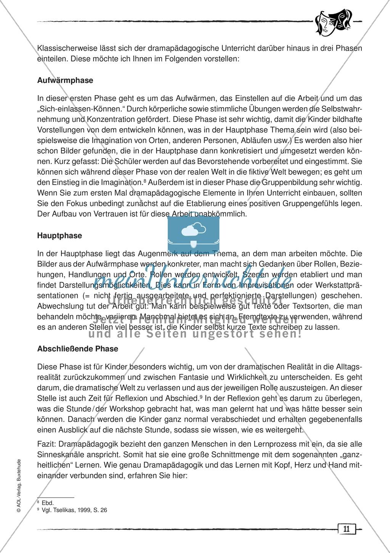 Didaktischer Artikel zur Theorie der Dramapädagogik: Beschreibung + Erwerb sprachlicher Kompetenzen durch Dramaturgie Preview 2