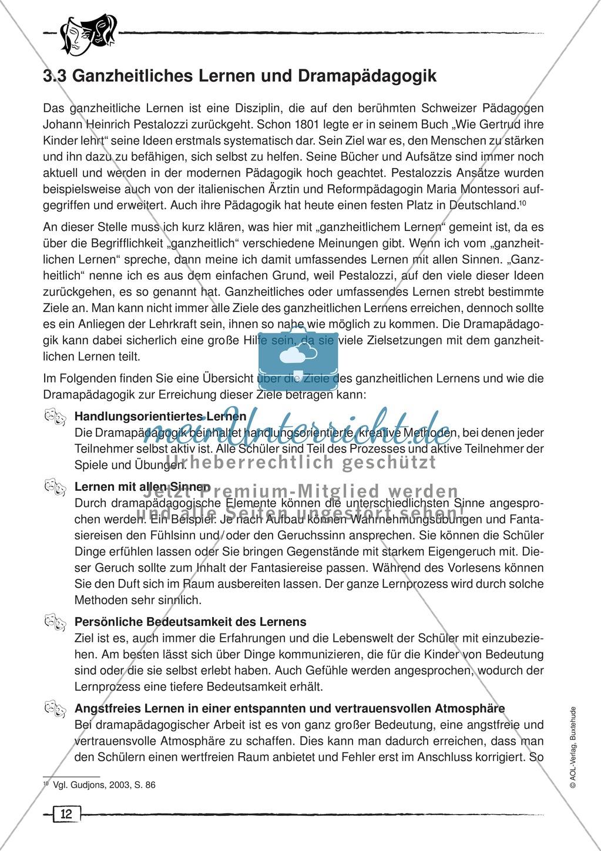 Didaktischer Artikel zur Theorie der Dramapädagogik: Beschreibung + Erwerb sprachlicher Kompetenzen durch Dramaturgie Preview 3