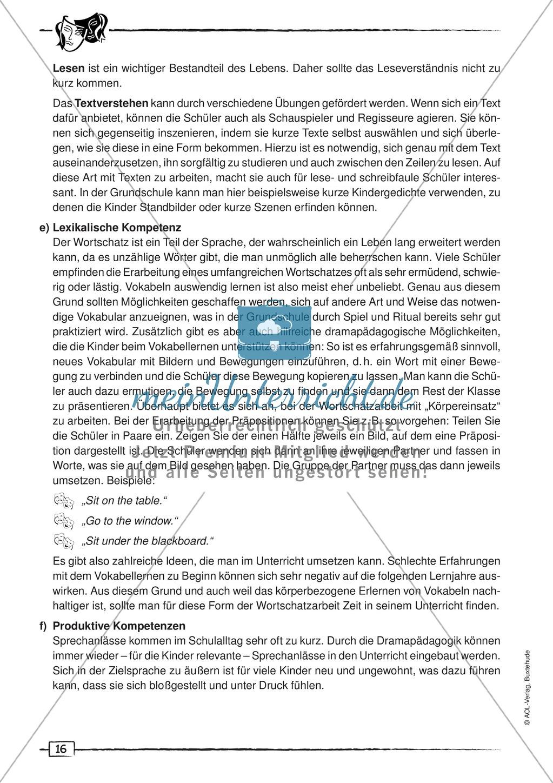 Didaktischer Artikel zur Theorie der Dramapädagogik: Beschreibung + Erwerb sprachlicher Kompetenzen durch Dramaturgie Preview 7
