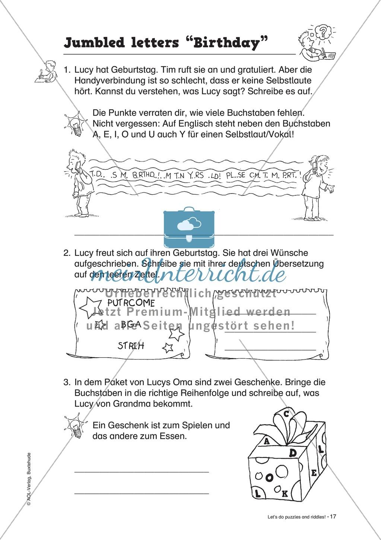Knobel-.  Denk- und Schreibrätsel zur Festigung von Grundwortschaft und einfachen Satzmustern im Englischunterricht Preview 14