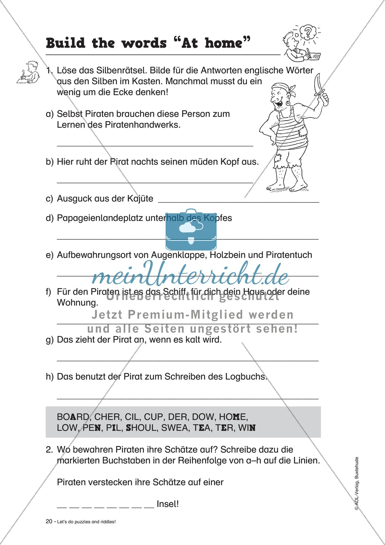 Knobel-.  Denk- und Schreibrätsel zur Festigung von Grundwortschaft und einfachen Satzmustern im Englischunterricht Preview 17