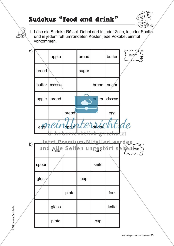 Knobel-.  Denk- und Schreibrätsel zur Festigung von Grundwortschaft und einfachen Satzmustern im Englischunterricht Preview 20