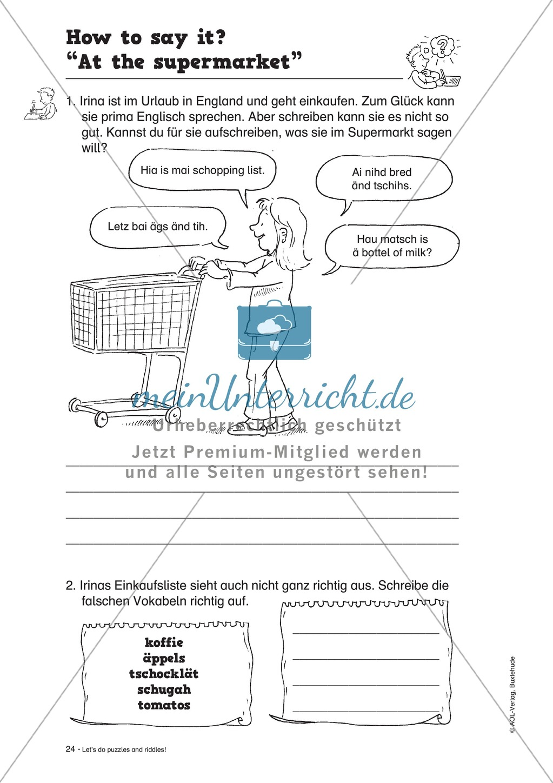 Knobel-.  Denk- und Schreibrätsel zur Festigung von Grundwortschaft und einfachen Satzmustern im Englischunterricht Preview 21