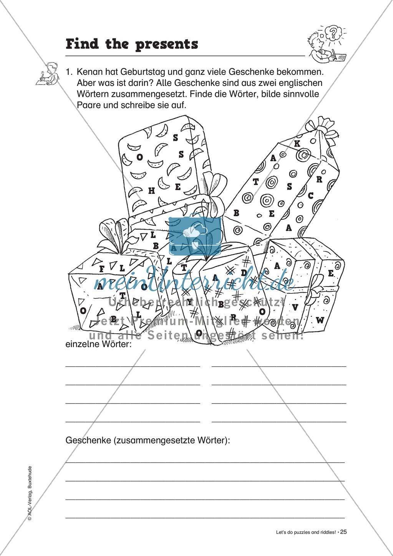 Knobel-.  Denk- und Schreibrätsel zur Festigung von Grundwortschaft und einfachen Satzmustern im Englischunterricht Preview 22