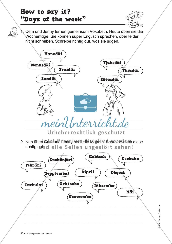 Knobel-.  Denk- und Schreibrätsel zur Festigung von Grundwortschaft und einfachen Satzmustern im Englischunterricht Preview 27