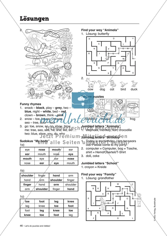 Knobel-.  Denk- und Schreibrätsel zur Festigung von Grundwortschaft und einfachen Satzmustern im Englischunterricht Preview 31