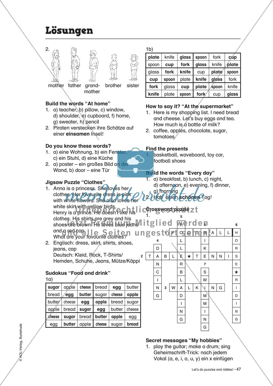 Knobel-.  Denk- und Schreibrätsel zur Festigung von Grundwortschaft und einfachen Satzmustern im Englischunterricht Preview 32