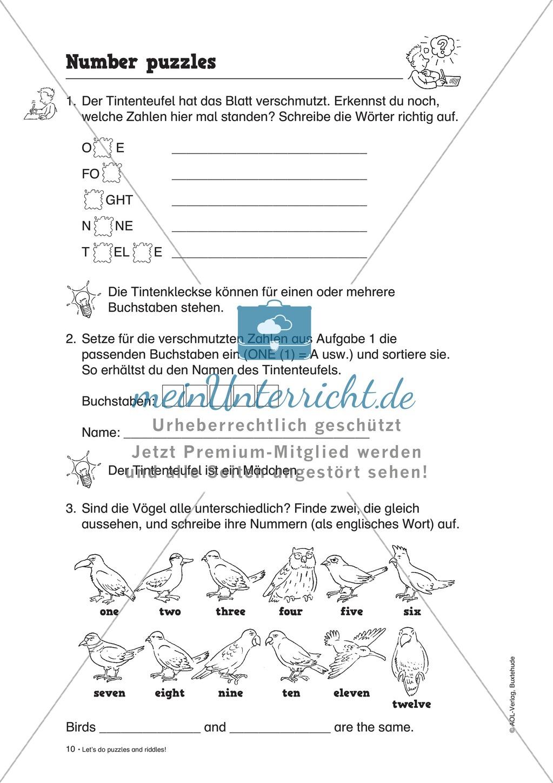 Knobel-.  Denk- und Schreibrätsel zur Festigung von Grundwortschaft und einfachen Satzmustern im Englischunterricht Preview 7
