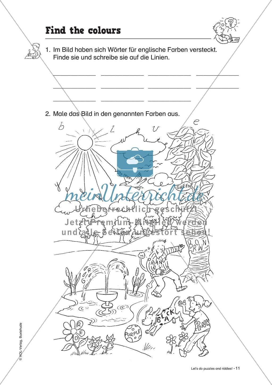 Knobel-.  Denk- und Schreibrätsel zur Festigung von Grundwortschaft und einfachen Satzmustern im Englischunterricht Preview 8