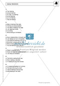 Present progressive bei statements: Erklärung, Übungen + Lösungen Preview 4