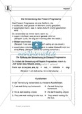 Englisch, Grammatik, Grammar, Zeiten / tenses, tense, present progressive / continuous, Present Progressive