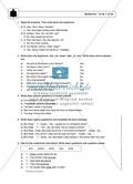 Simple Present bei questions mit to do / to be: Erklärung, Übungen + Lösungen Preview 3