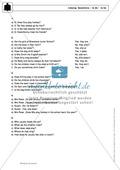 Simple Present bei questions mit to do / to be: Erklärung, Übungen + Lösungen Preview 5