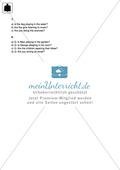Klassenarbeit present progressive - schwer (2) - mit Lösungen Preview 4